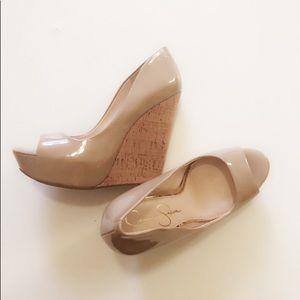 Jessica Simpson Cork Heel Wedge
